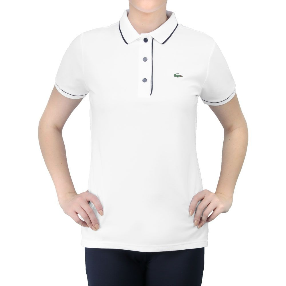 32f83966179 Camisa Polo Lacoste Fancy Tennis 1 Branca E Marinho - R  149