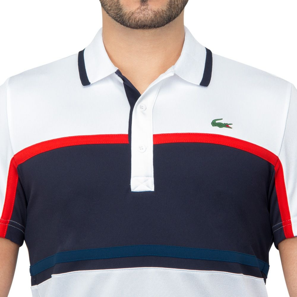 4b3d0bd6fa0 camisa polo lacoste fancy tennis 1 marinho laranja e branca. Carregando  zoom.