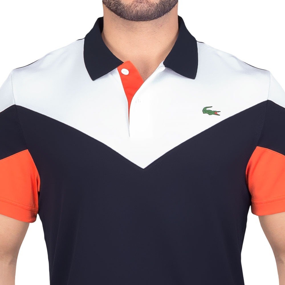 b9ffd1bbab7c9 camisa polo lacoste fancy tennis dh7983 marinho branca e lar. Carregando  zoom.