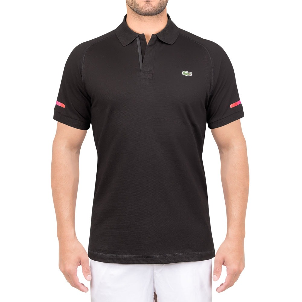 e9b83f49219 camisa polo lacoste fancy yh2134 tennis lifestyle preta. Carregando zoom.