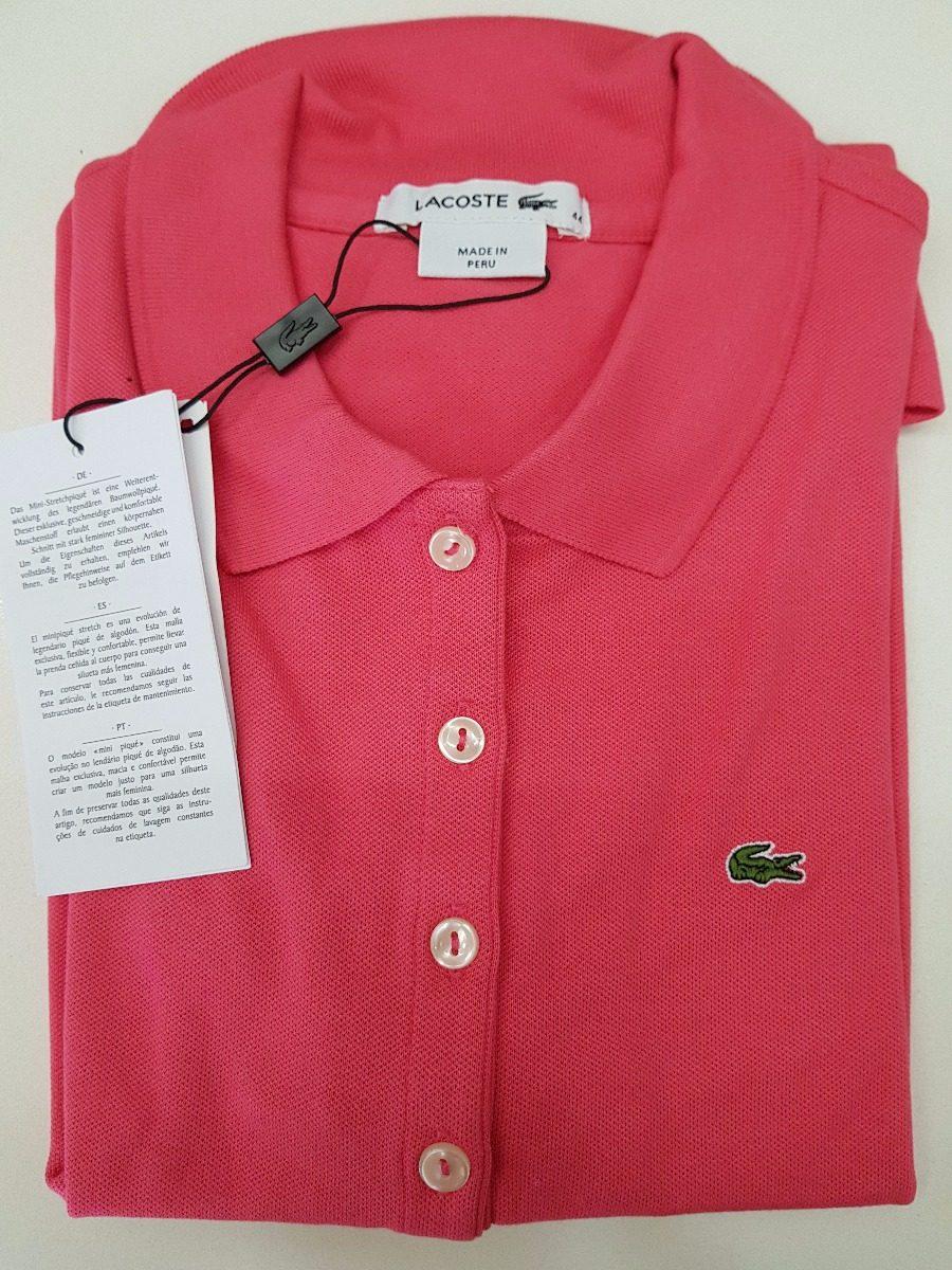 0c31eba46c9b7 camisa polo lacoste feminina original c  nf - promoção. Carregando zoom.