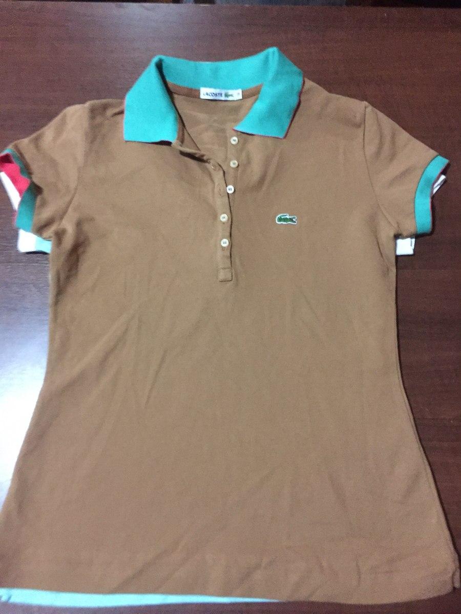 eca1b07eabefe Camisa Polo Lacoste Feminina Tam 38