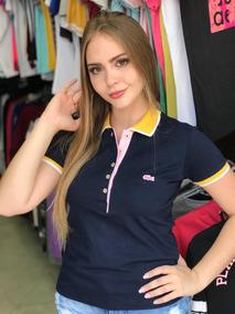 3f1e54150c3 Polo Listrada Feminina Lacoste Replica - Camisetas Manga Curta no ...