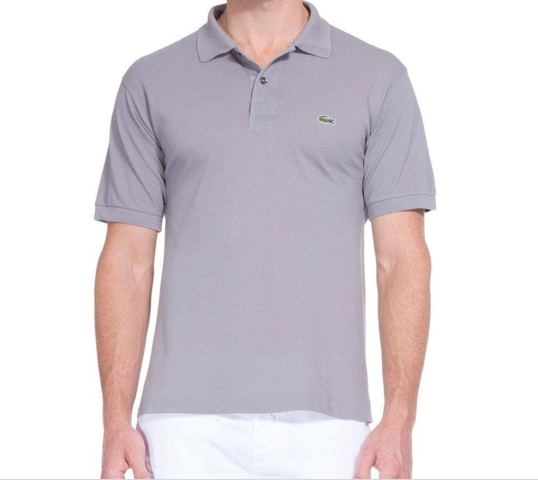 0cf5289021bfa camisa polo lacoste l12 12 cinza origibal peruana. Carregando zoom.