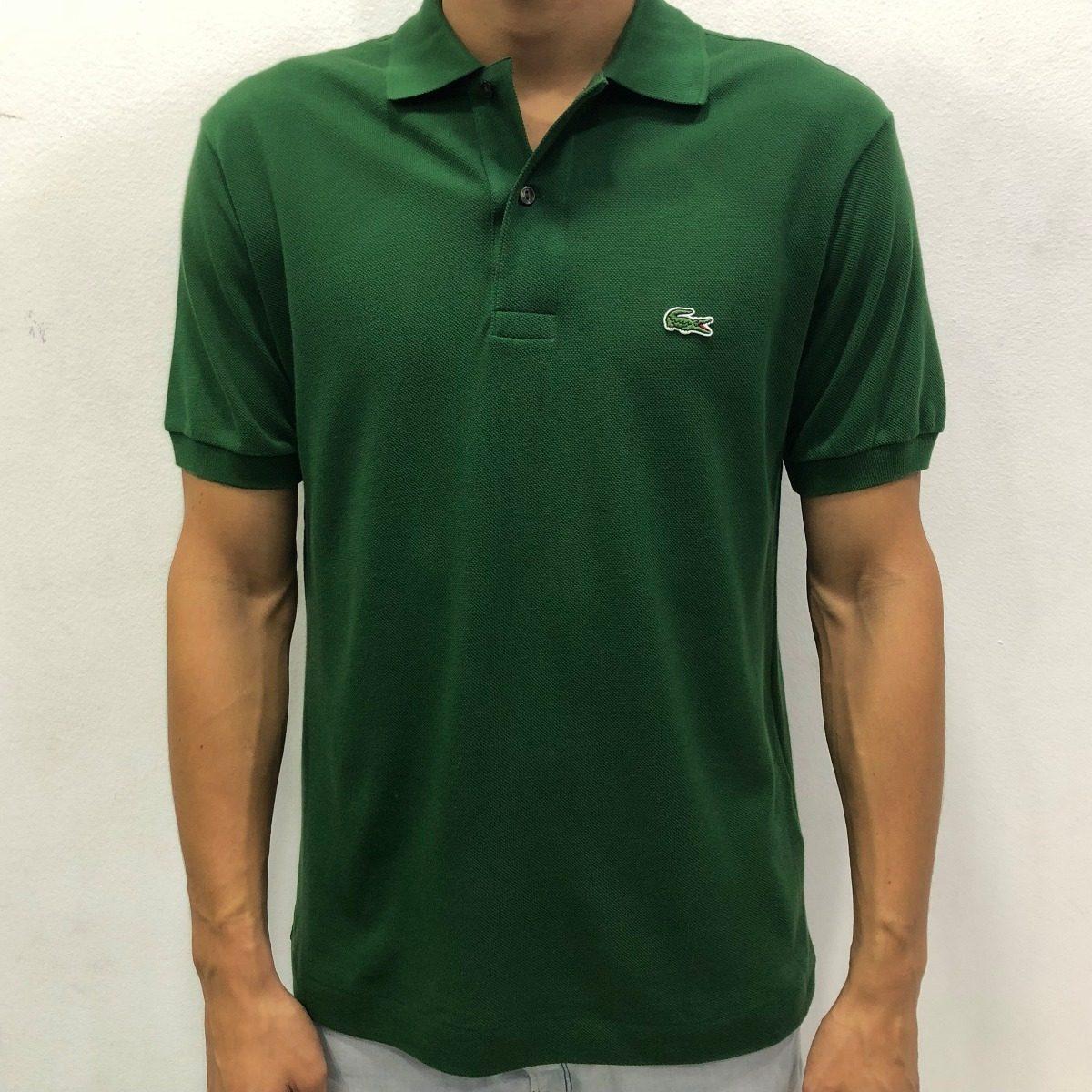 Camisa Polo Lacoste Lisa Verde Cod.040 - R  279,00 em Mercado Livre 6d441bedb8