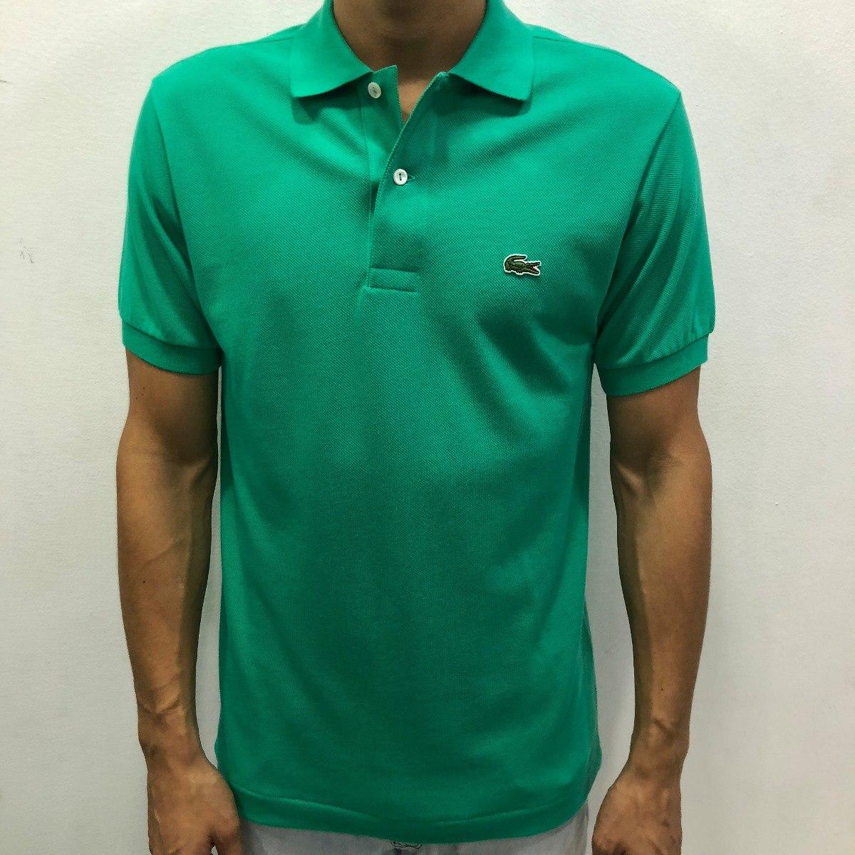 Camisa Polo Lacoste Lisa Verde Cod.044 - R  279,00 em Mercado Livre a3ef7d6343