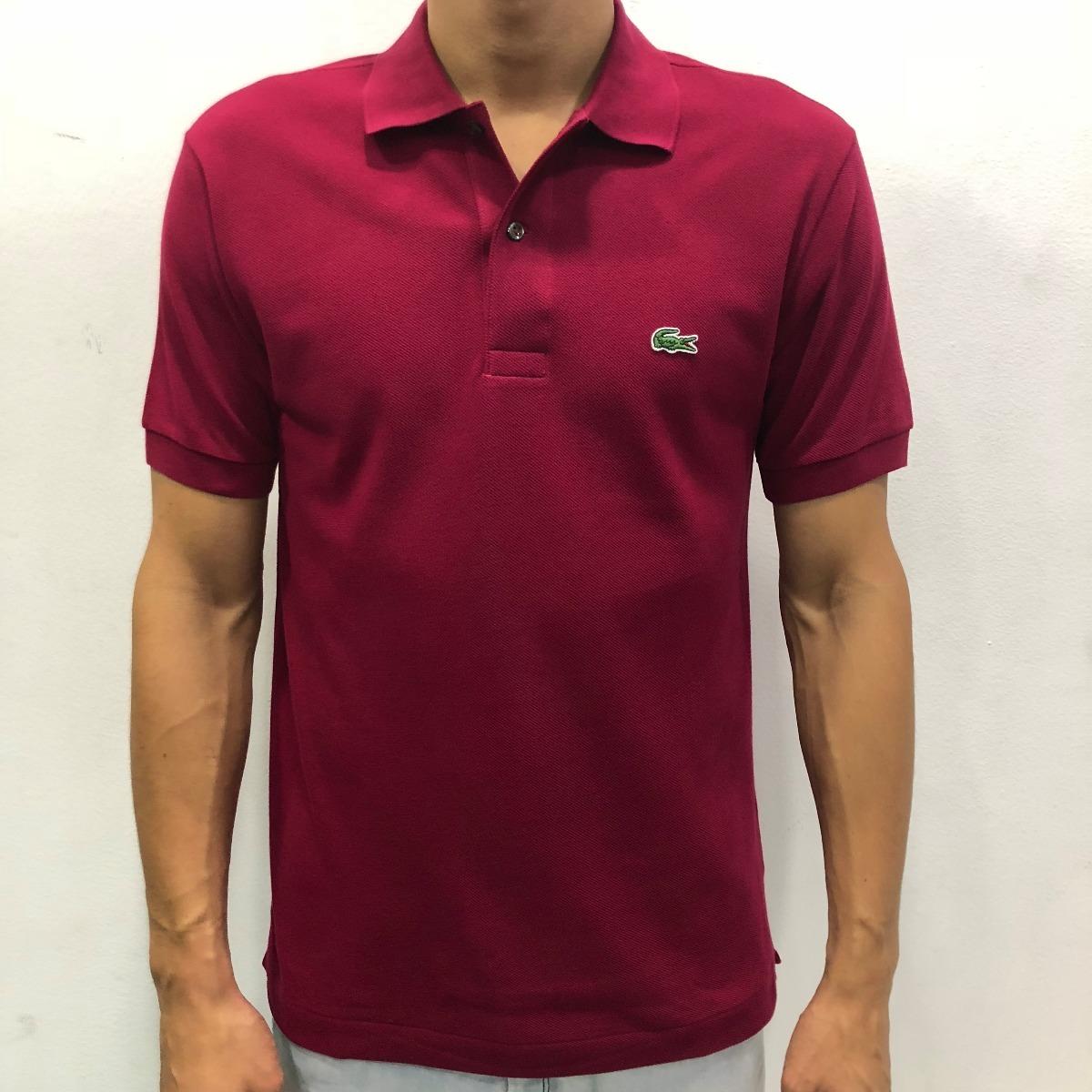 Camisa Polo Lacoste Lisa Vinho Cod.039 - R  279,00 em Mercado Livre 0b1cb0e9ce