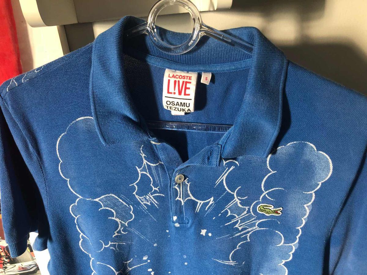 camisa polo lacoste live osamu tezuka rara serie especial. Carregando zoom. 1a4f20358e