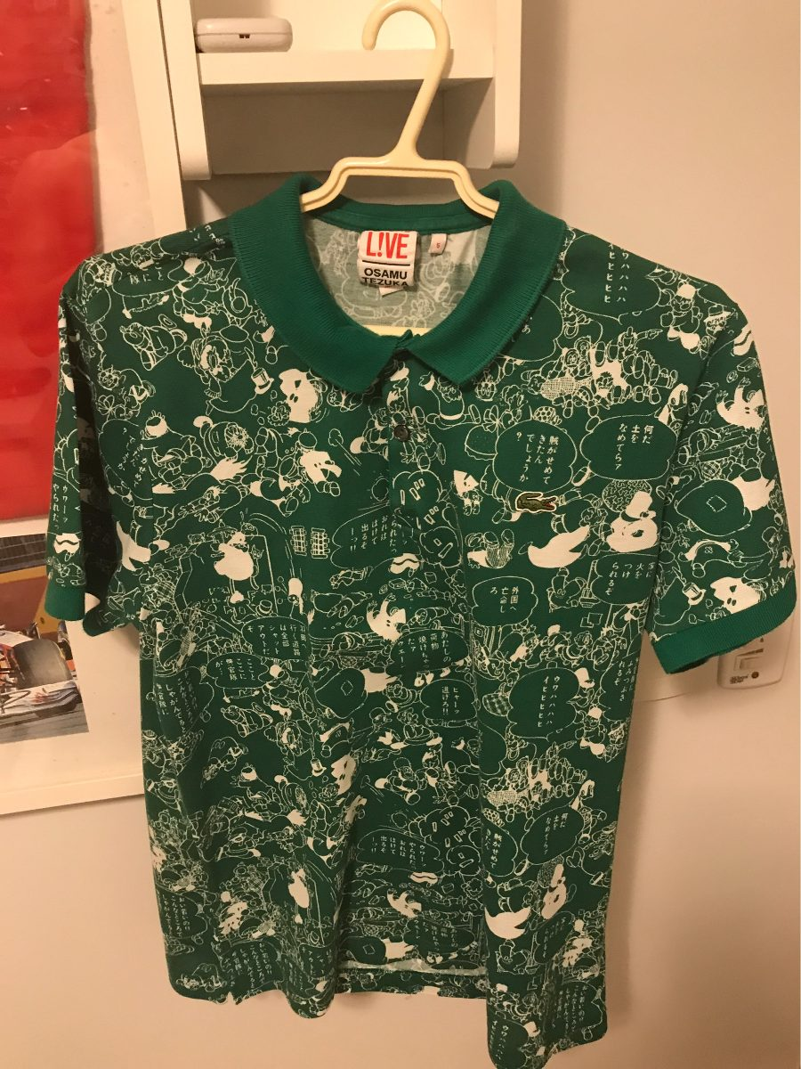 c04289c646918 Camisa Polo Lacoste Live Osamu Tezuka Rara Serie Especial - R  199 ...