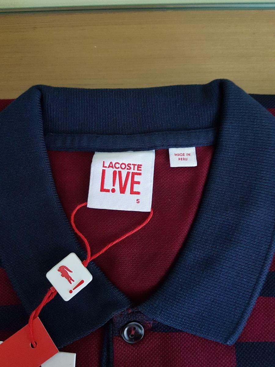 Camisa Polo Lacoste Live Vinho Original - R  329,00 em Mercado Livre c94d7371c8