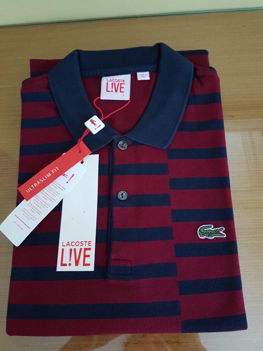 Camisa Polo Lacoste Live Vinho Original - R  329,00 em Mercado Livre 0b89bc0fff