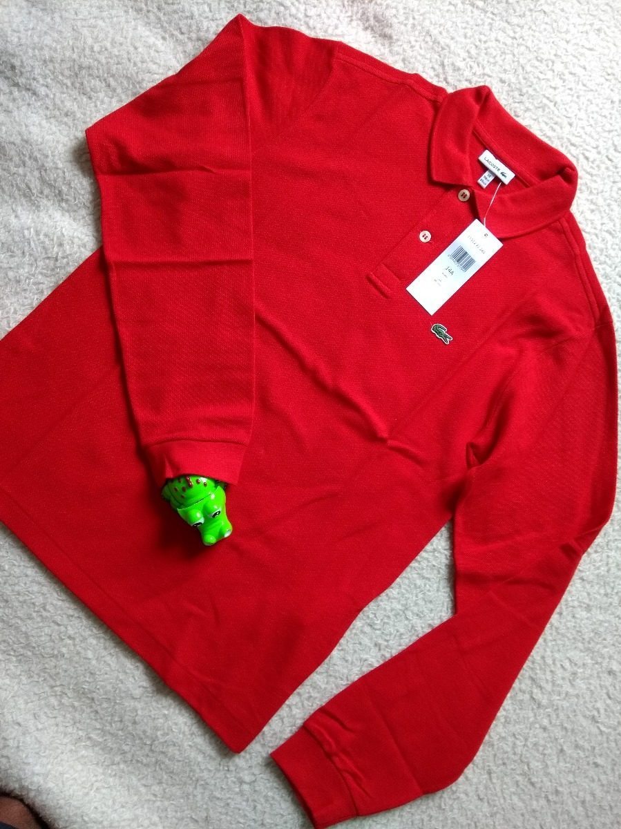 Camisa Polo Lacoste Manga Longa Infantil - R  198,00 em Mercado Livre 99bbe9bb97