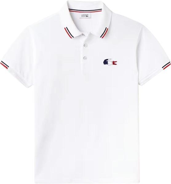 fc4608232a06a Camisa Polo Lacoste Masculina Branca 3 Botões Pronta Entrega - R ...