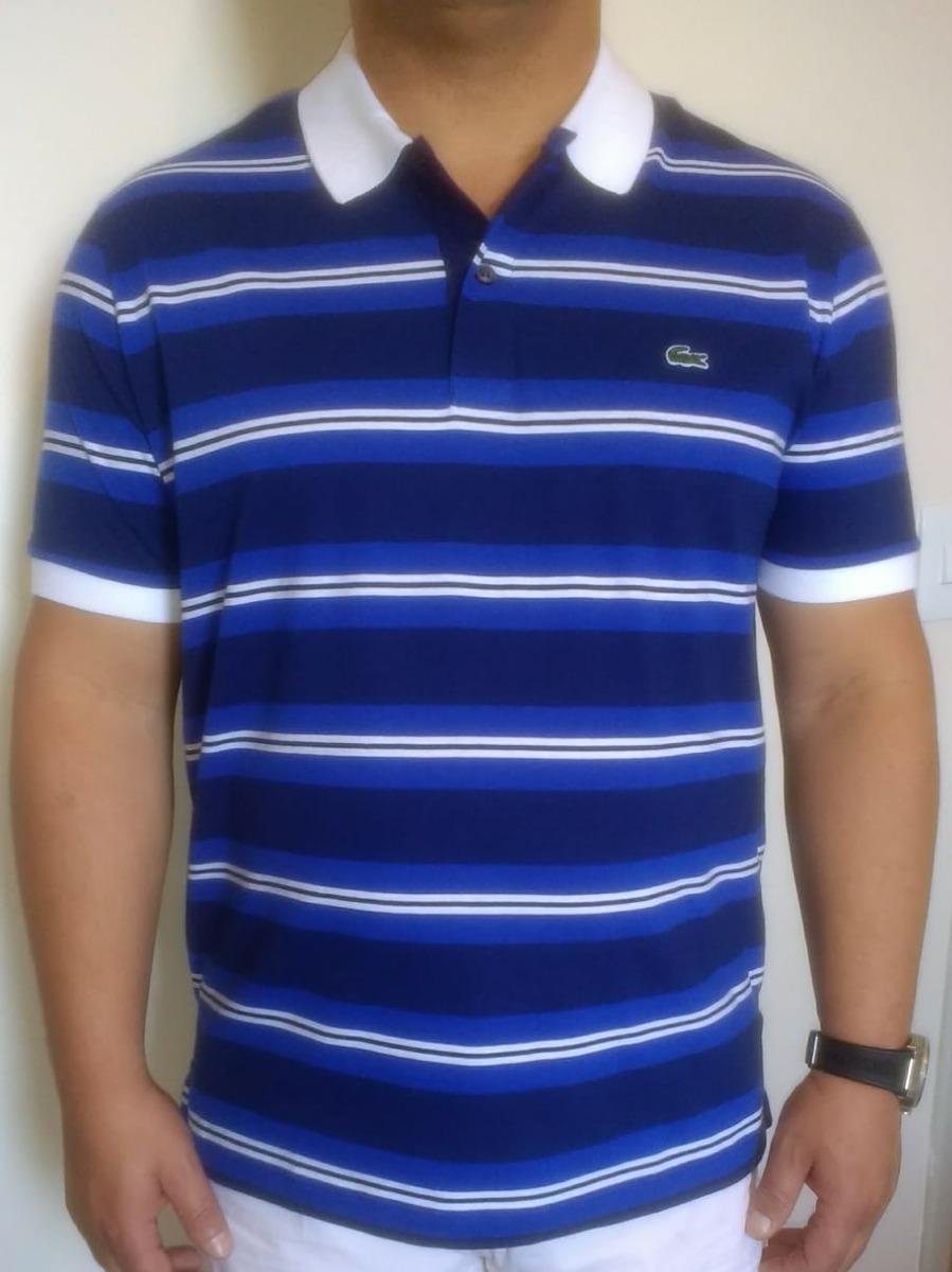 camisa polo lacoste masculina regular fit listrada. Carregando zoom. 995c2296d0f1e