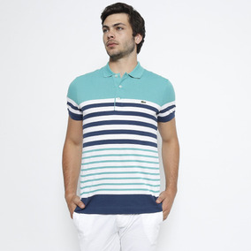 65095ab0f8d Camisa Polo Lacoste Masculina Regular Fit Listrada Bordado