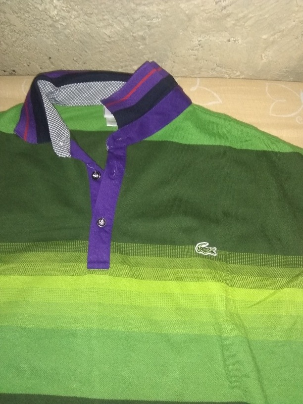 c3aca75960 camisa polo lacoste nova verde roxo. Carregando zoom.
