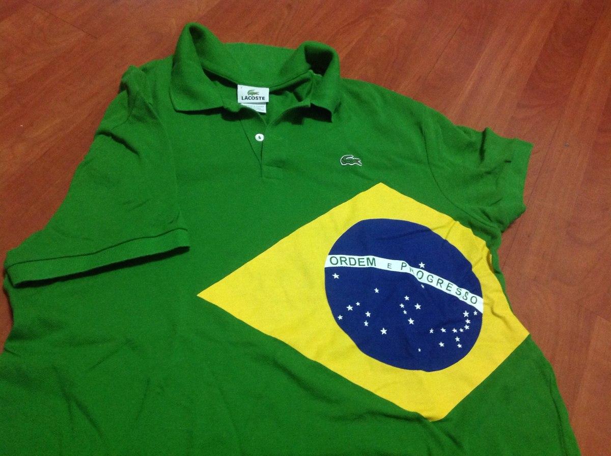 c91a8317fe2 camisa polo lacoste oficial jogos brasil no coração. Carregando zoom.