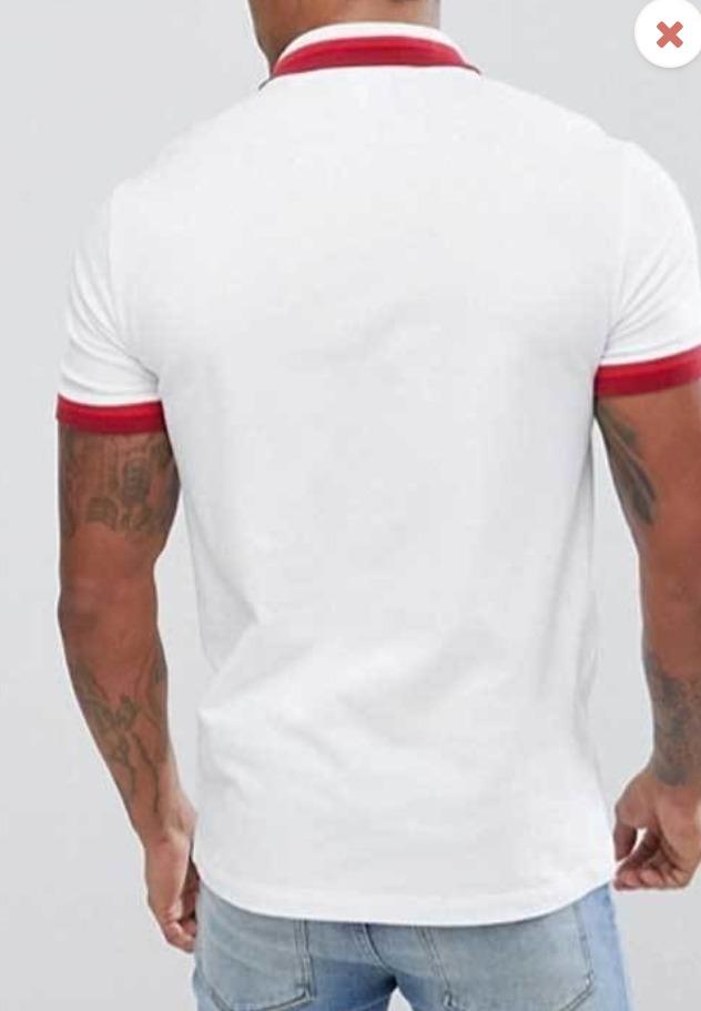 813875bce4ee5 camisa polo lacoste original branca gola vermelha. Carregando zoom.