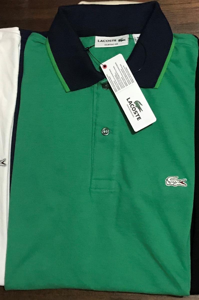 ea9aa7faa6c Camisa Polo Lacoste Original C tag Papel Seda+saco Original - R  192 ...