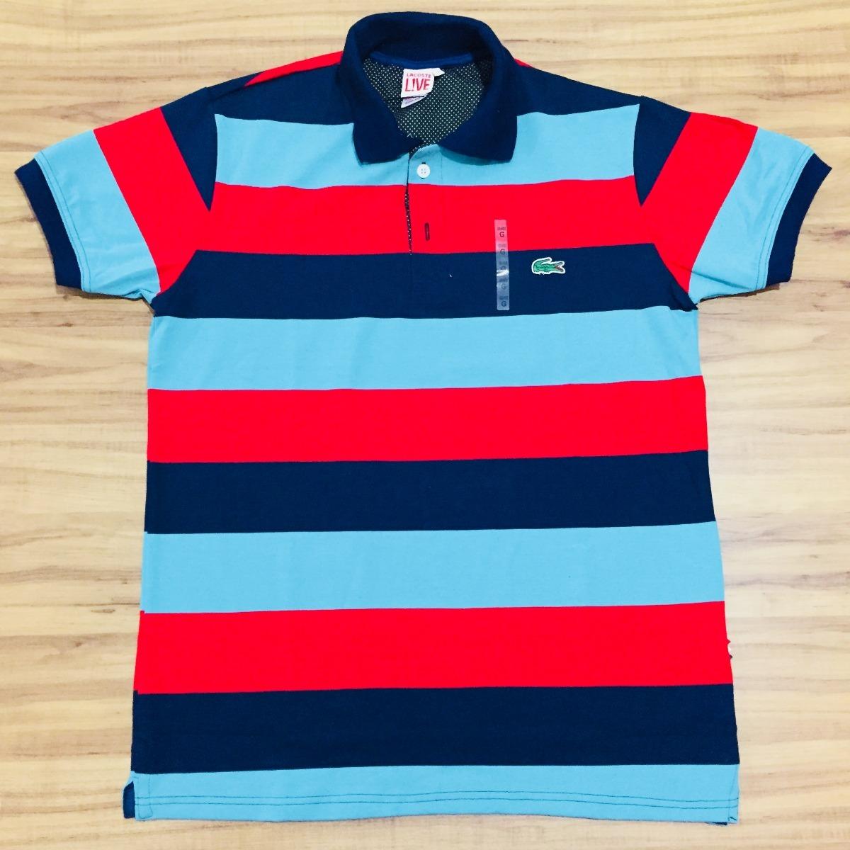 619ef4e8f25 Camisa Polo Lacoste Original Lcst Live Peruana Slim Fit - R  89