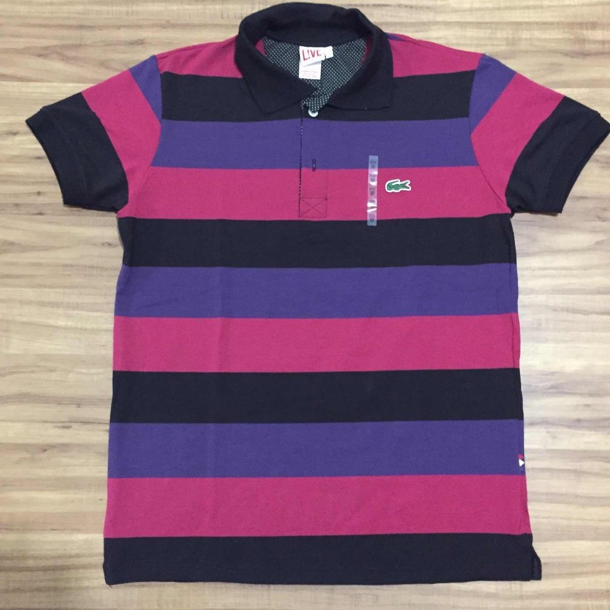 bc4ea1ecdd62b camisa polo lacoste original lcst live peruana slim fit. Carregando zoom.