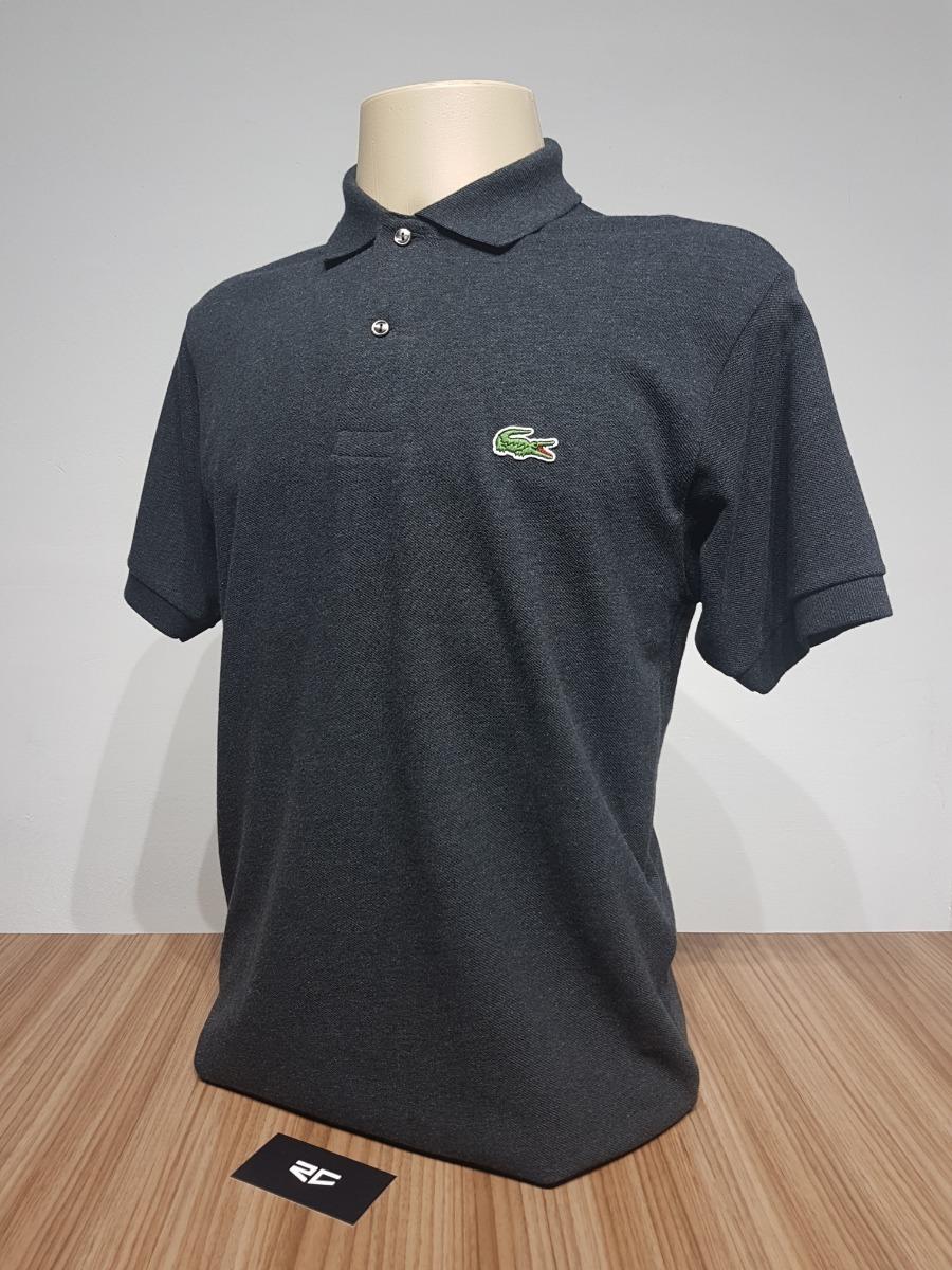 457547b4f63 camisa polo lacoste original masculina regular fit - cinza. Carregando zoom.