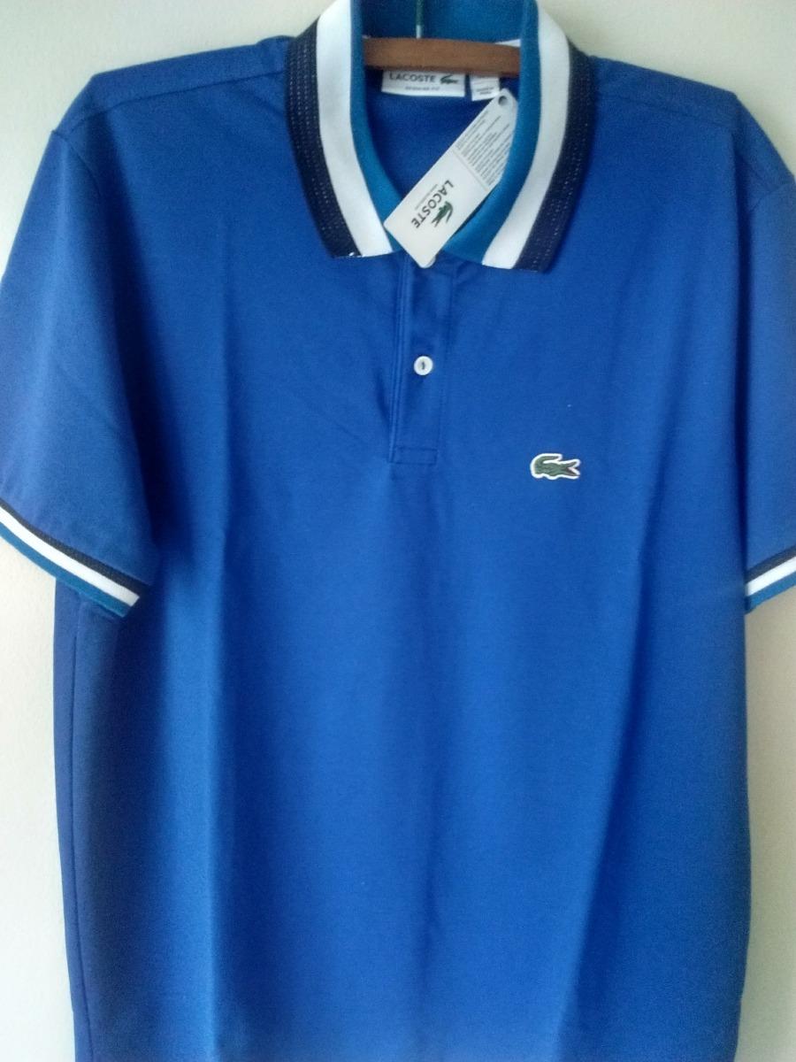 c35e11a369394 camisa polo lacoste original peruana branca azul g promoção. Carregando  zoom.