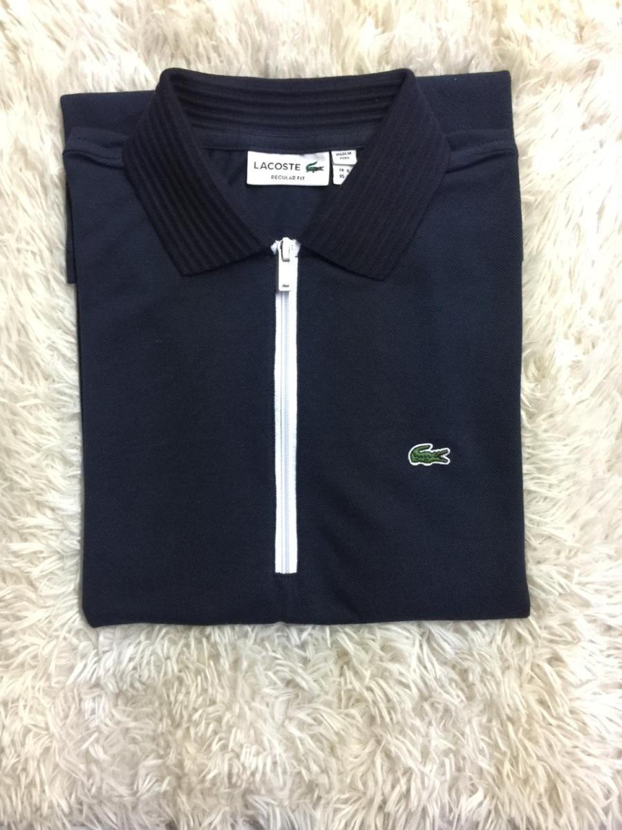 bbbe9fe61f975 camisa polo lacoste original zíper várias cores frete grátis. Carregando  zoom.