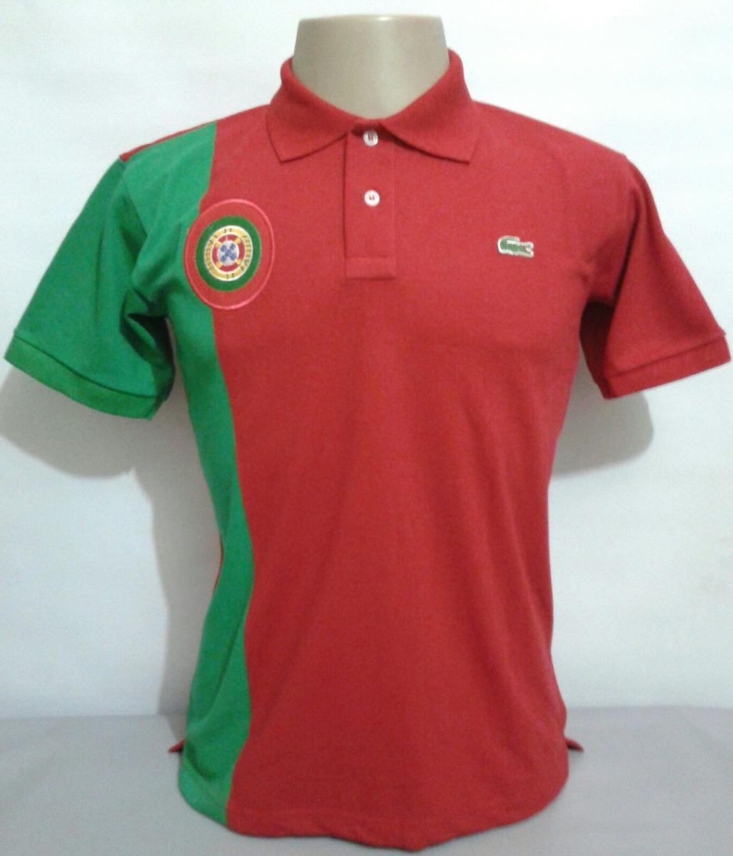 f31b97894c3 camisa polo lacoste país portugal com brasão bordado. Carregando zoom.