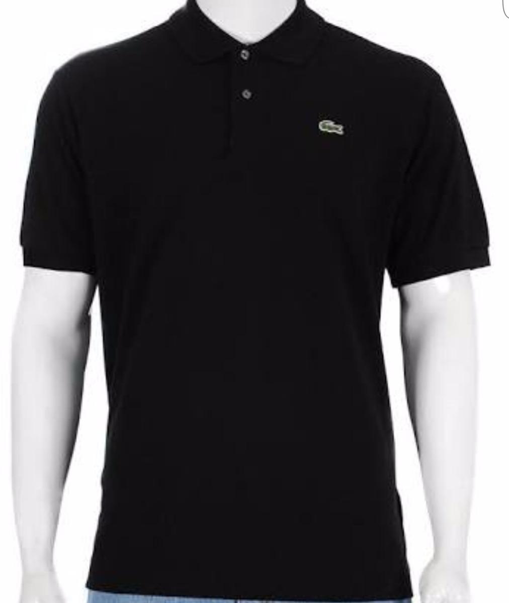 ce44137ab89 camisa polo lacoste preta masculina - original. Carregando zoom.