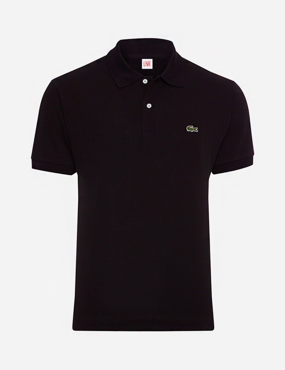 camisa polo lacoste preta originais masculino manga curta. Carregando zoom. 71a12219f7d