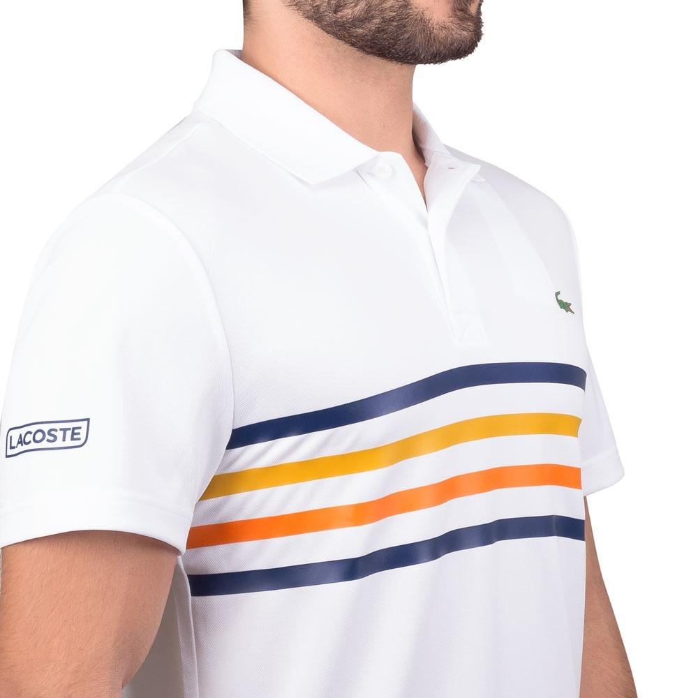 dca74d5562172 camisa polo lacoste regular fit dh3138 branca. Carregando zoom.