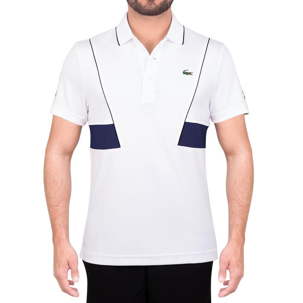 bcbb5a954754 camisa polo lacoste regular fit dh3325 branca e marinho. Carregando zoom.