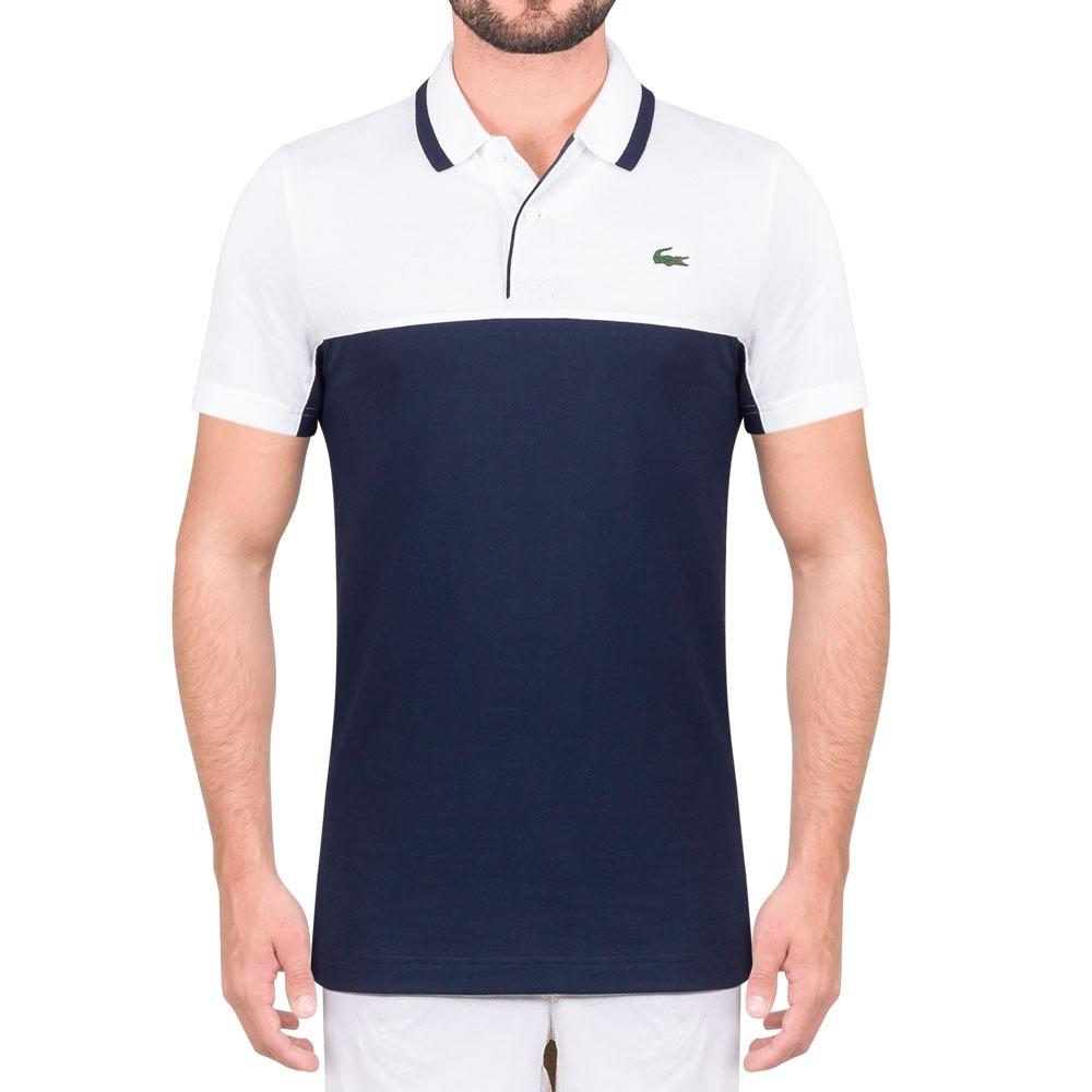 8e2d85c3e42c camisa polo lacoste regular fit dh3364 branca e marinho. Carregando zoom.