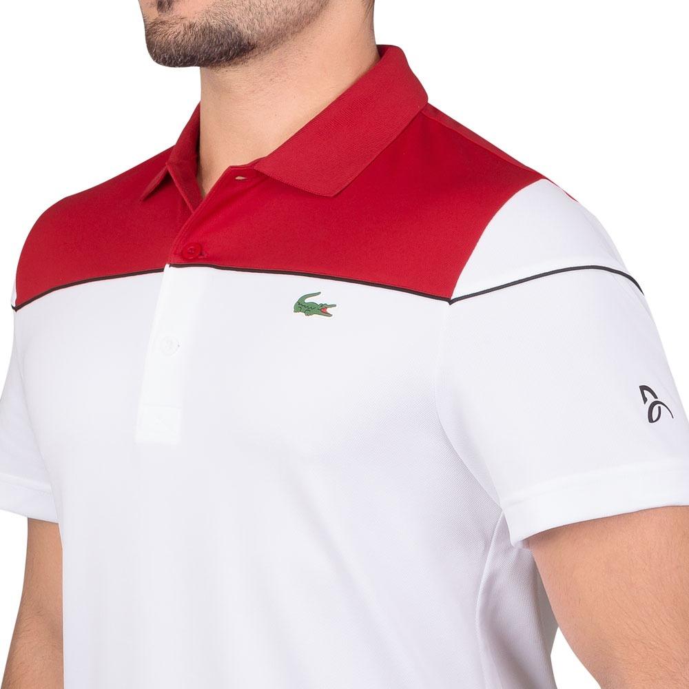 6abaf92a8e7 camisa polo lacoste regular fit dh4121 vermelha e branca. Carregando zoom.