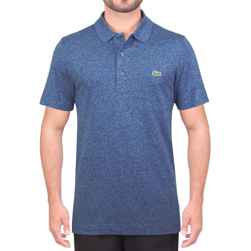76027a3fa9f50 Camisa Polo Lacoste Regular Fit L1230 Mescla Azul - R  199,90 em ...