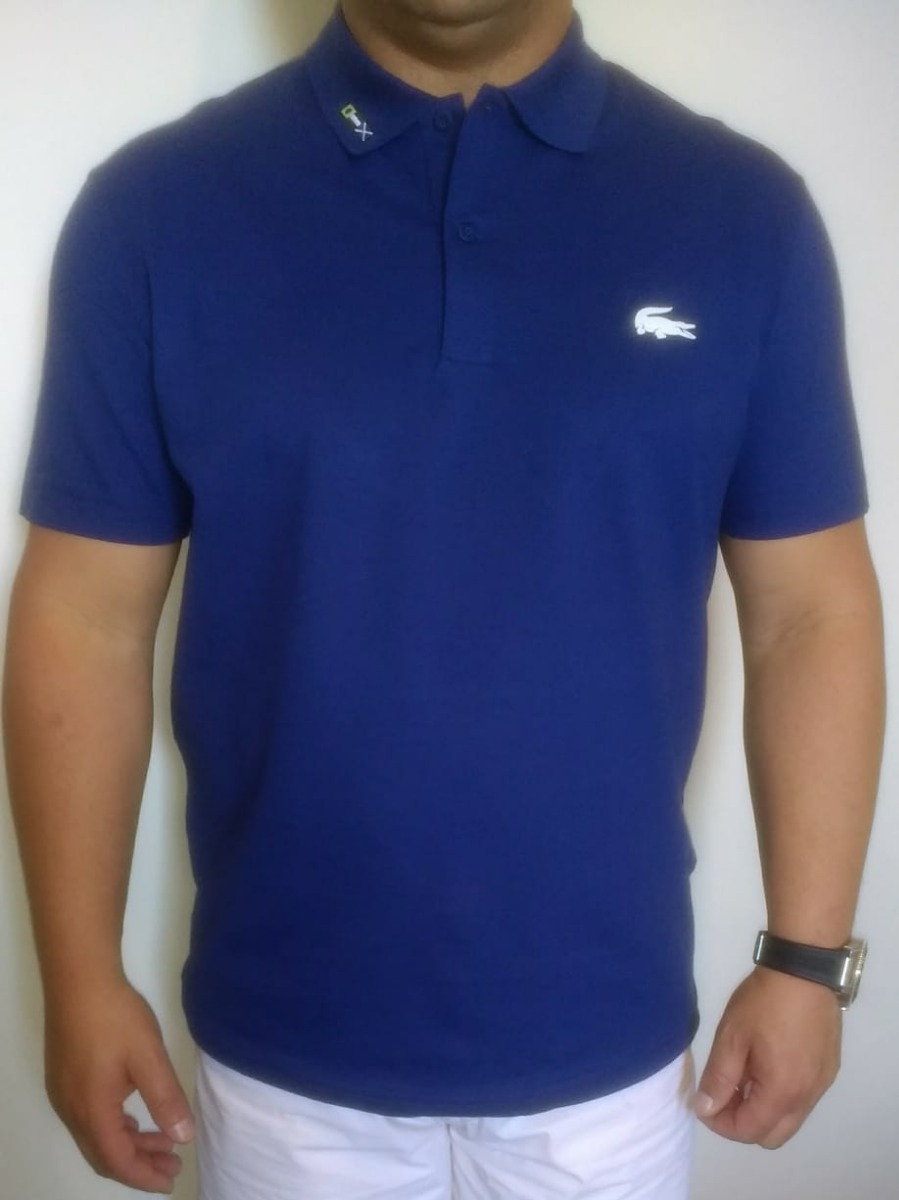 d91b16e4eb413 Camisa Polo Lacoste Slim Fit Masculina Big Crock Borracha - R  299 ...
