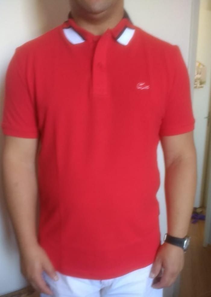 d1f0353fff483 camisa polo lacoste slim fit masculina croco de borracha. Carregando zoom.