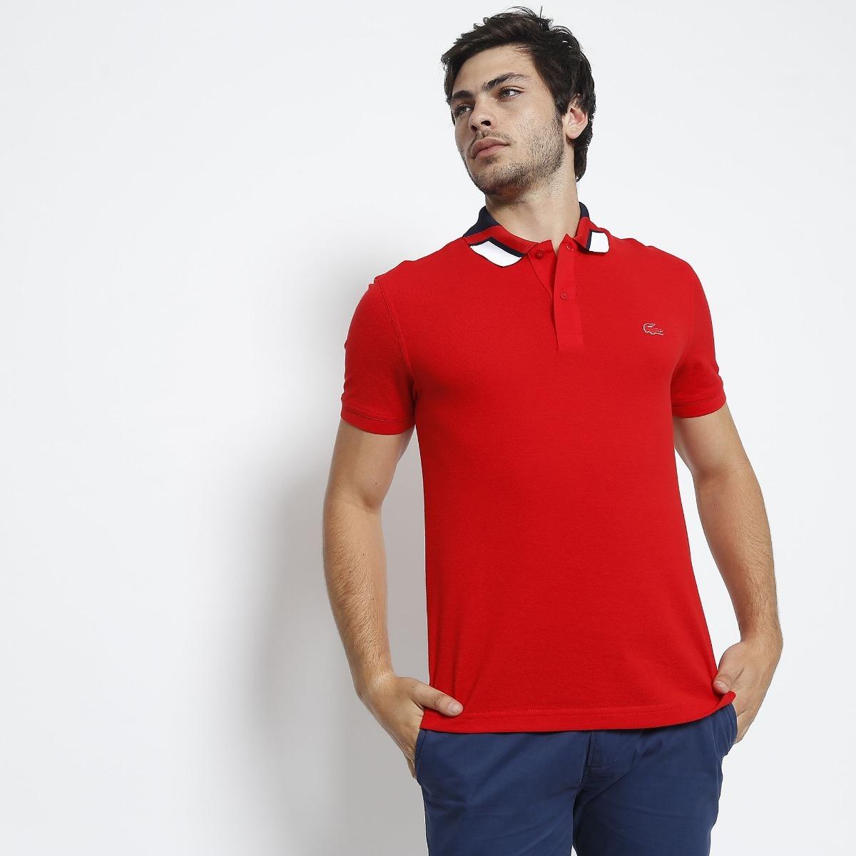 camisa polo lacoste slim fit masculina croco de borracha. Carregando zoom. 86935d8ba4
