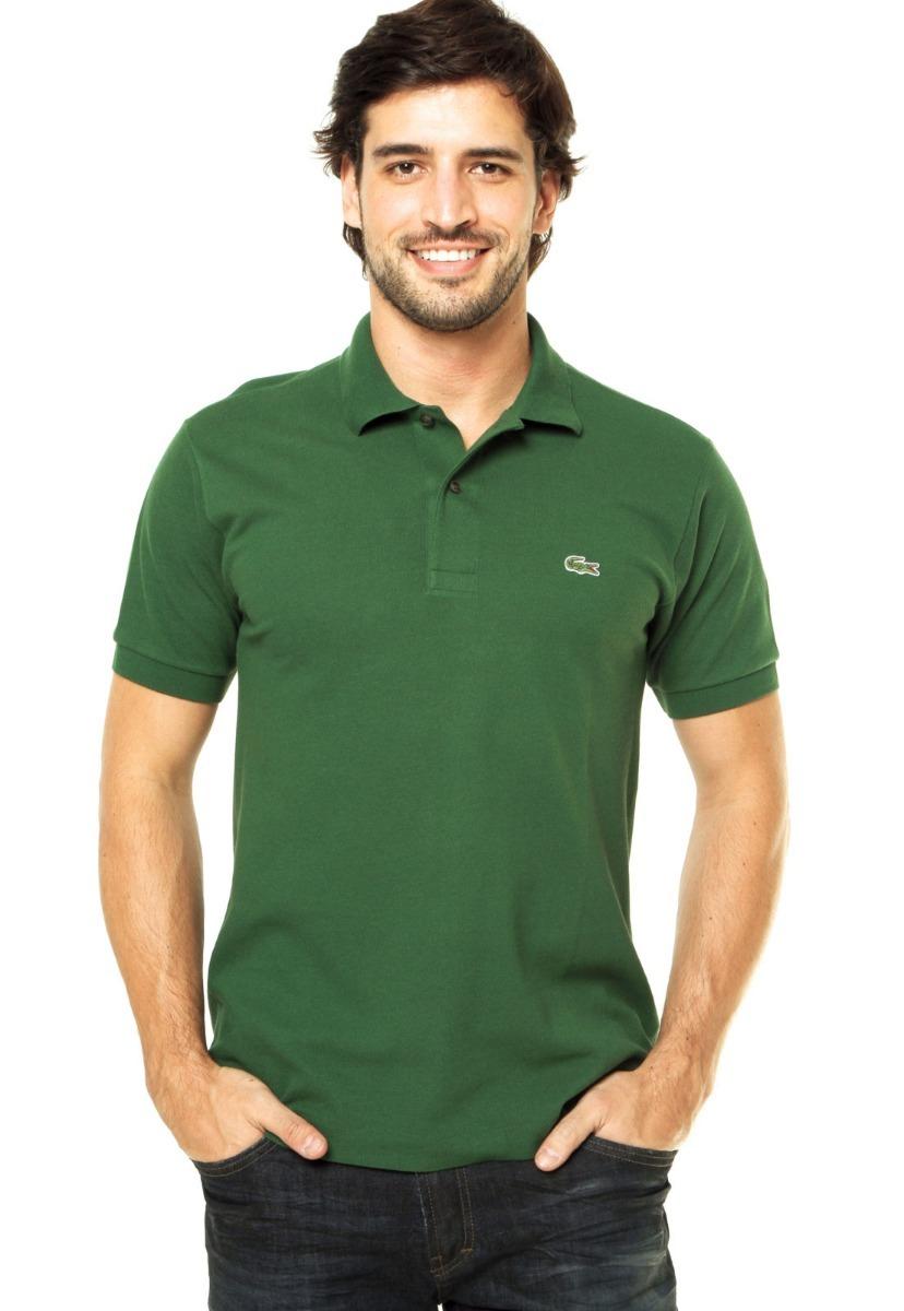 8902d1893f camisa polo lacoste slim fly verde. Carregando zoom.