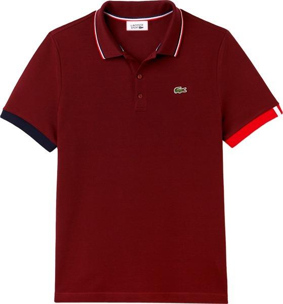4b56af1b24852 Camisa Polo Lacoste Sport Masculina 3 Botões Vinho - R  199,90 em ...