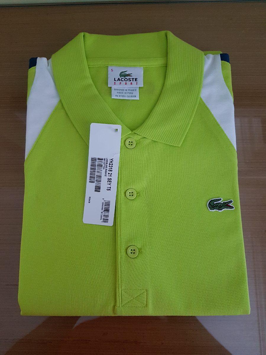 0c785c28b77 camisa polo lacoste sport verde original. Carregando zoom.