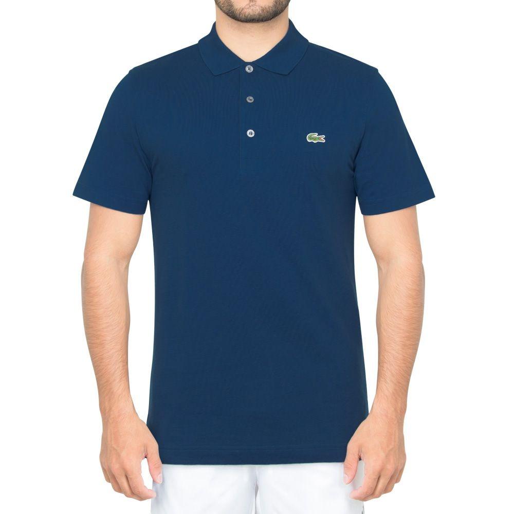 179579251 camisa polo lacoste tennis 1 azul petróleo. Carregando zoom.