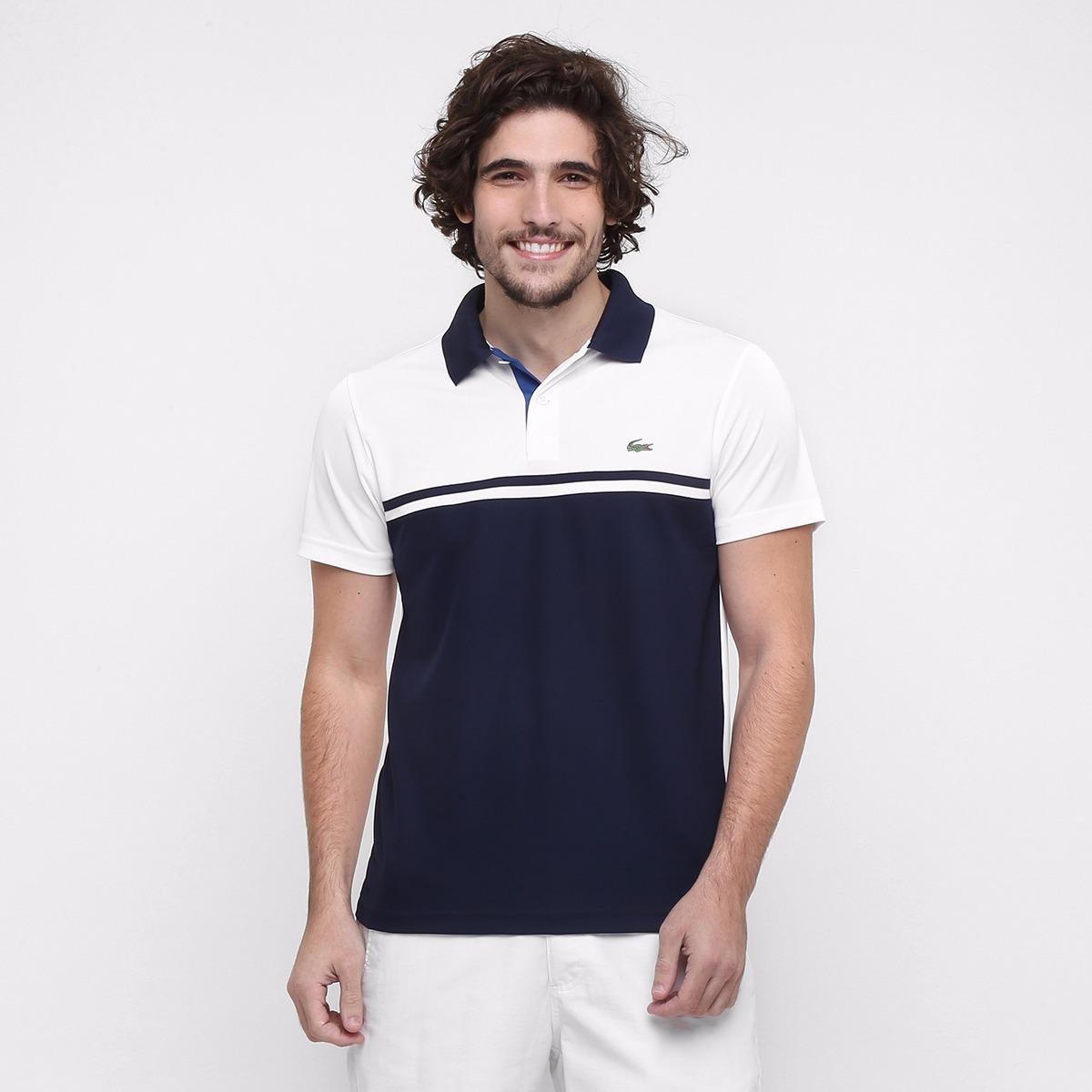 24098cfa26f Camisa Polo Lacoste Tennis Sport Ultra Dry Em Poliester - R  280