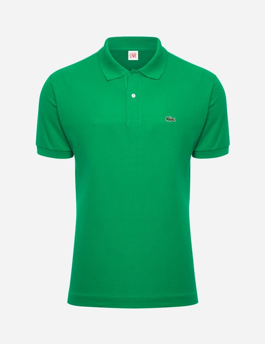 750aaed3d9 camisa polo lacoste verde originais masculino. Carregando zoom.