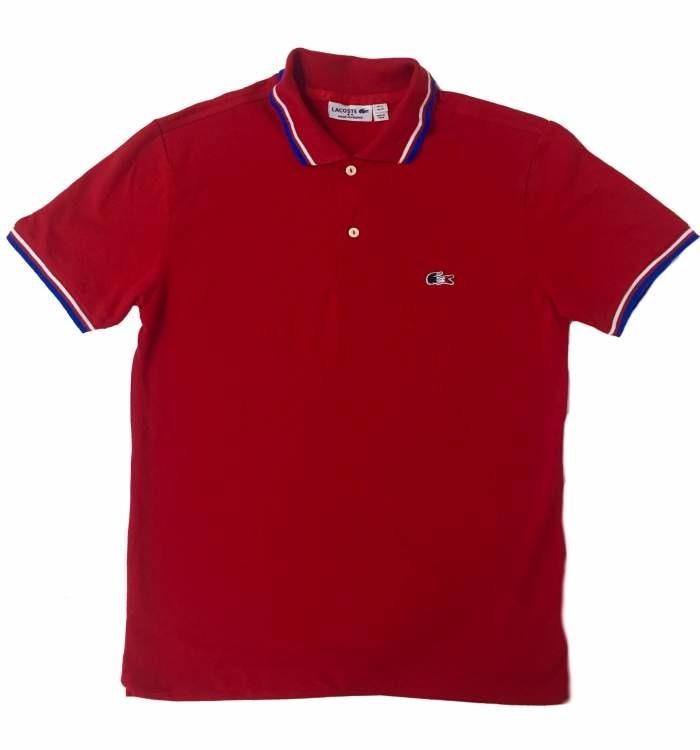 Camisa Polo Lacoste Vermelha França Original - R  99 a9a812f4215f8