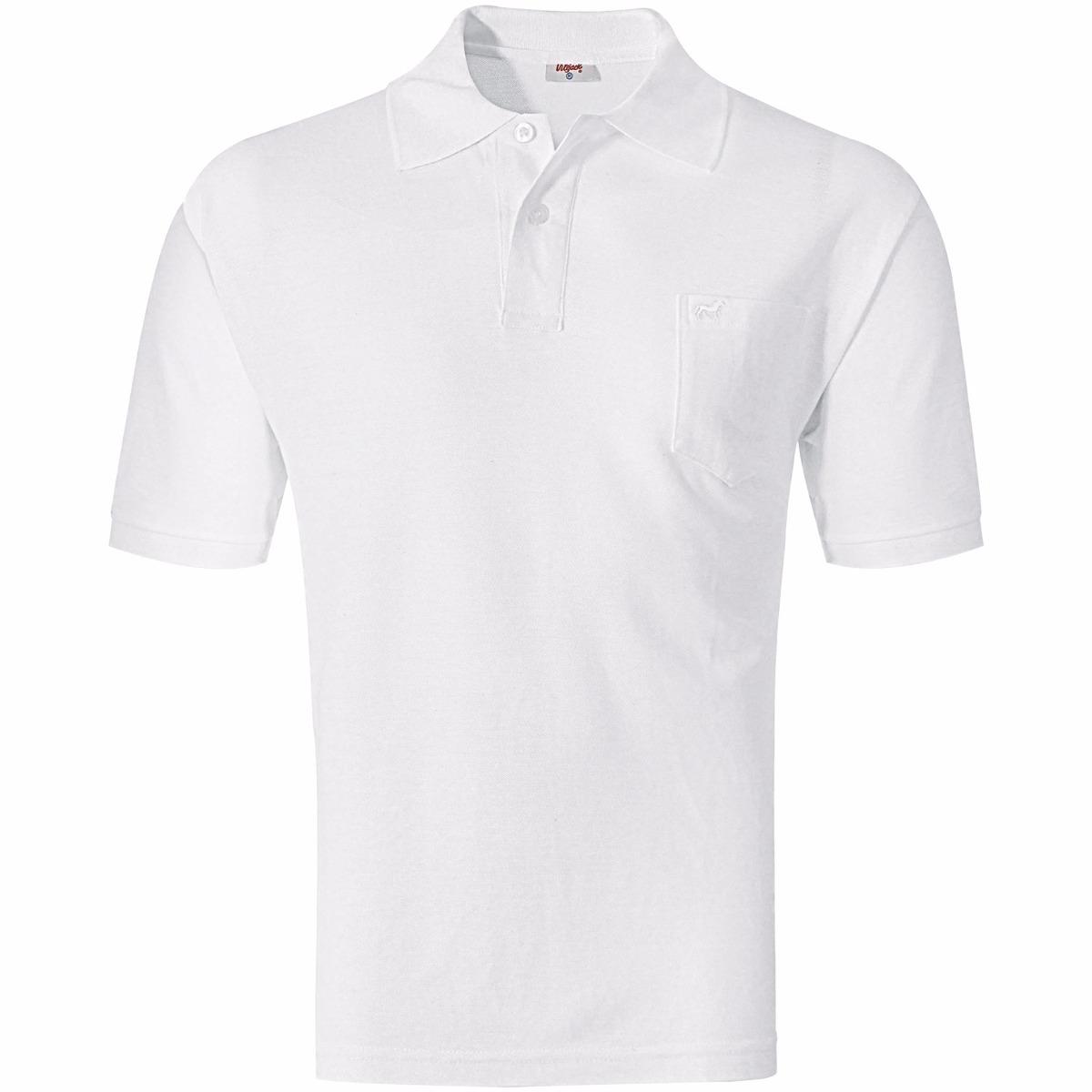 camisa polo lisa com bolso branca 02 médio vilejack. Carregando zoom. e2296627fc92c