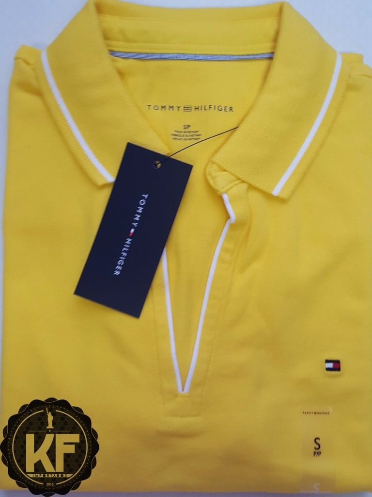 b6bd553db7 camisa polo lisa decote tommy hilfiger original - feminina. Carregando zoom.