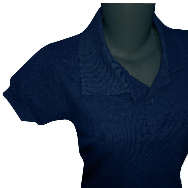 camisa polo lisa feminina sem bordado alta qualidade oferta. Carregando zoom . abb9d8994e9f8