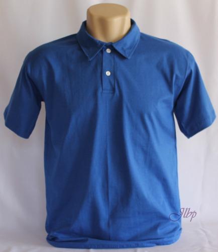 camisa polo lisa malha 100% algodão fio 30.1